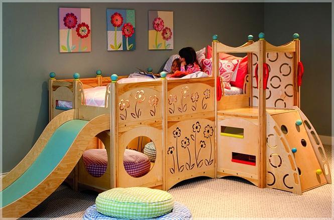 Łóżko na kilku poziomach