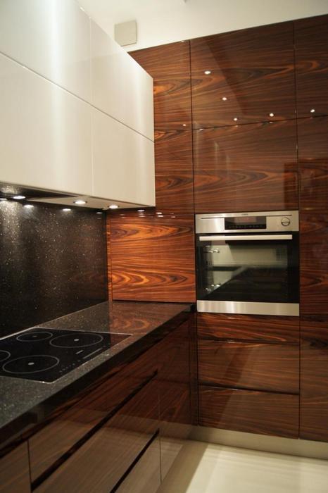 Galeria zdjęć  Zdjęcia kuchni z prawdziwych domów Zobacz 10 najmodniejszych   -> Kuchnia Fornir Palisander