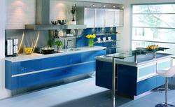 Niebieski kolor w kuchni. 10 aranżacji nowoczesnych niebieskich kuchni