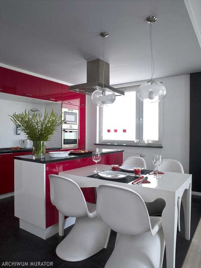 Kolorowe kuchnie - czerwona