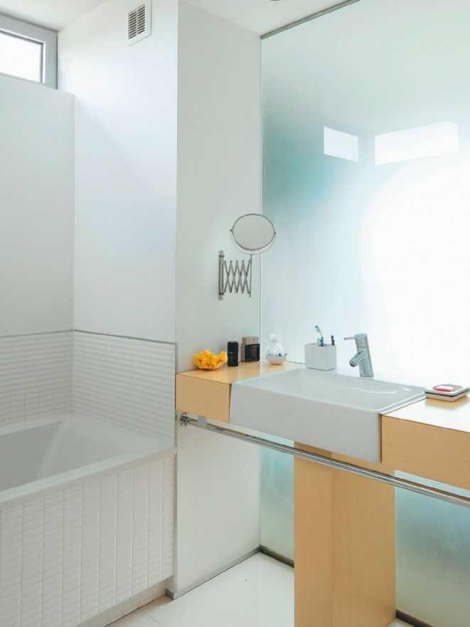 Szklana ścianka w łazience