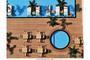 Basen w hotelu: przykład zastosowania profili wygiętych wokół basenu