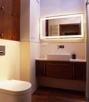 Łazienka oświetlona